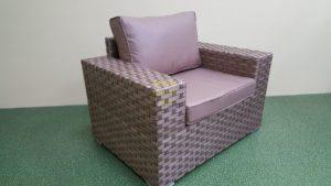 Фото-Cinzano beige Кресло из искусственного ротанга