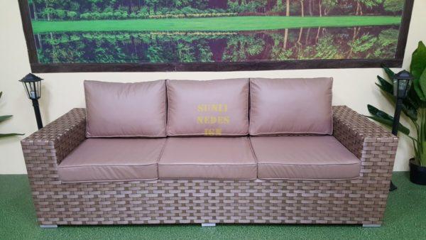 Cinzano beige плетеный диван