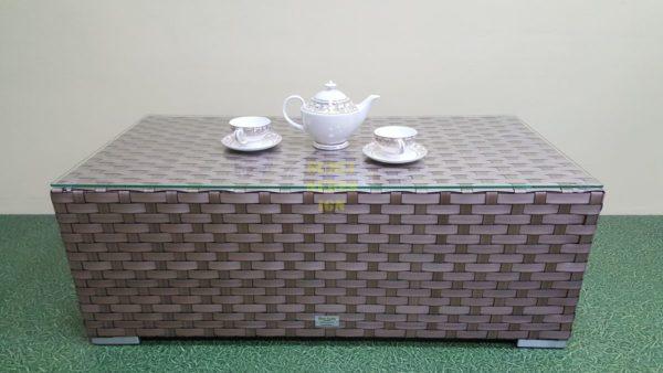 Стол кофейный из искусственного ротанга Cinzano beige