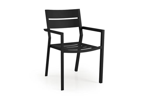 """Фото-Кресло садовое алюминиевое """"Delia"""" черный Brafab"""