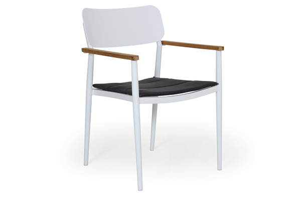 Фото-Domingo white кресло садовое обеденное Brafab