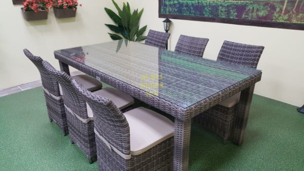 Infinity & Rose brown grey 6 Плетеная мебель