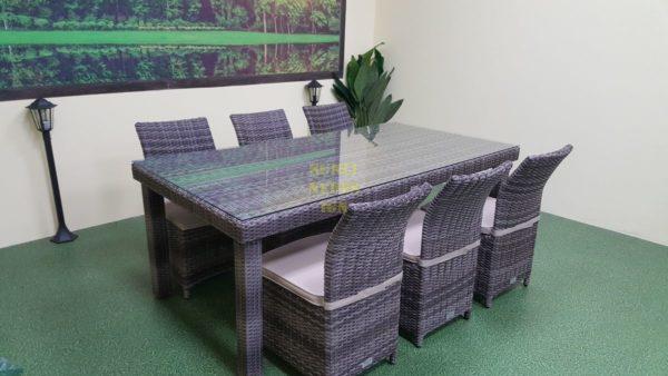 Infinity & Rose brown grey 6 Садовая мебель из искусственного ротанга