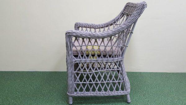 """Кресло из искусственного ротанга """"Beatrix"""" grey"""