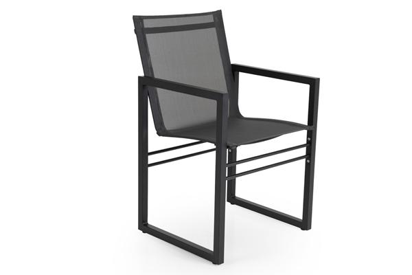 Фото-Кресло садовое алюминиевое Vevi black