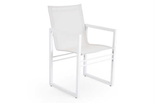 Кресло садовое алюминиевое Vevi white