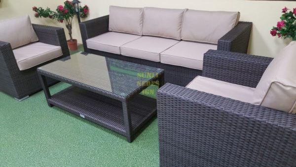 Louisiana brown set 4 Ротанг мебель искусственная