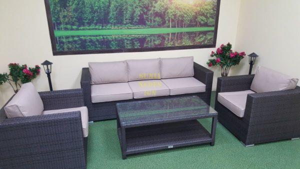 Louisiana brown set 4 Садовая мебель плетеная