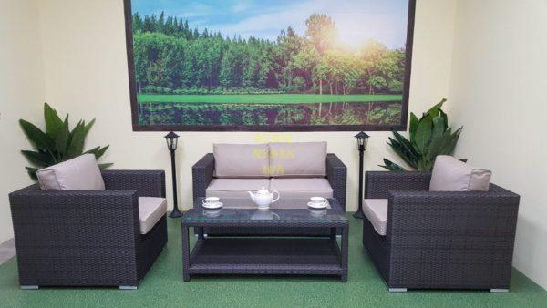 Фото-Louisiana lounge brown Плетеная мебель