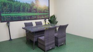 Фото-Плетеная мебель Rose brown grey 4
