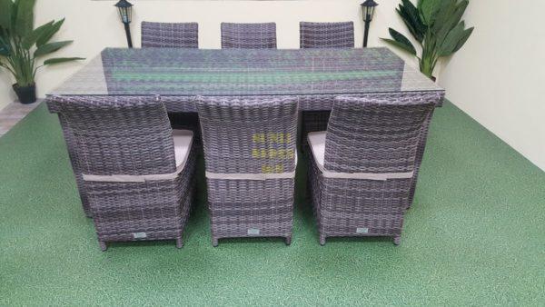 Rose brown grey Мебель из искусственного ротанга