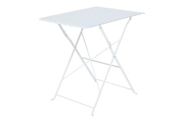 BRADANO Стол садовый кофейный белый Brafab