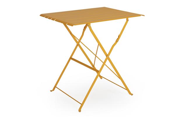 BRADANO Стол садовый кофейный желтый Brafab