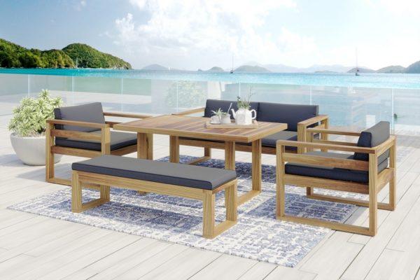 Booka dining set 3 Садовая мебель акация