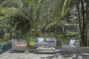 MARRAKESH GREY Плетеная Садовая мебель жгут