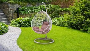 Подвесное кресло плетеное GUSTO WHITE