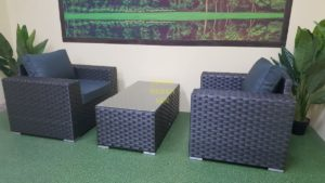 Фото-Cinzano black Мебель из ротанга искусственного cafe set