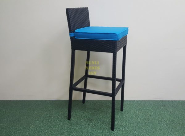 Mega black барный стул плетеный ротанг