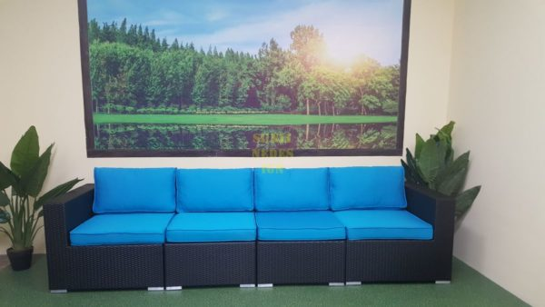 Mega black диван из искусственного ротанга модульный