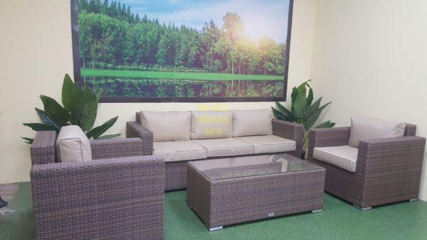 Фото-Adagio beige set 1 Мебель ротанг искусственный