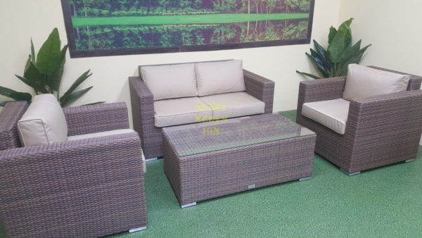 Фото-Adagio beige диван из ротанга бежевый 2 места
