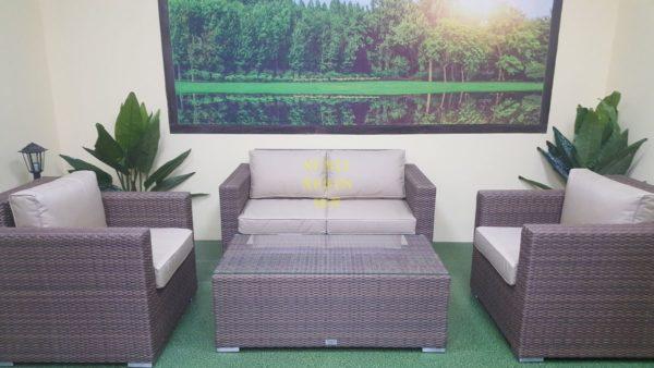 Фото-Садовая мебель ротанг искусственный Adagio beige set 2