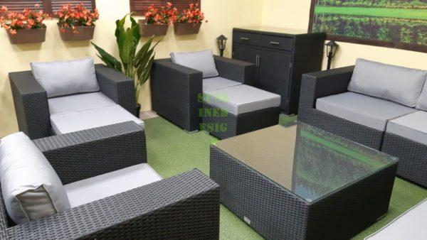 Luisa Lounge set 8 Набор мебели из искусственного ротанга