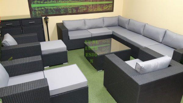 Фото-Luisa Lounge set 8 Плетеная мебель цвет черный