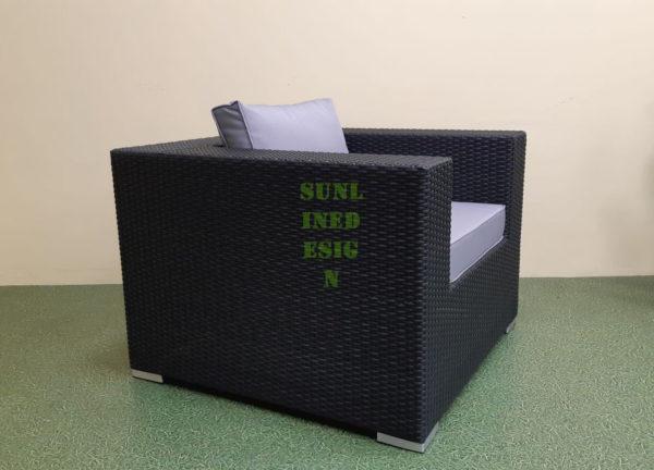 Фото-Luisa maxi Кресло из искусственного ротанга