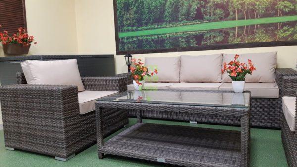Фото-Комплект мебели из искусственного ротанга Aria