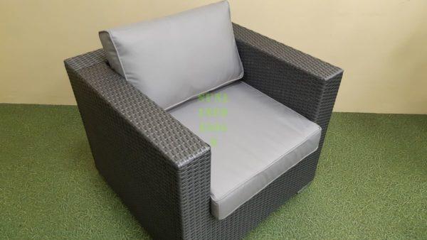 Louisiana grey Кресло из искусственного ротанга