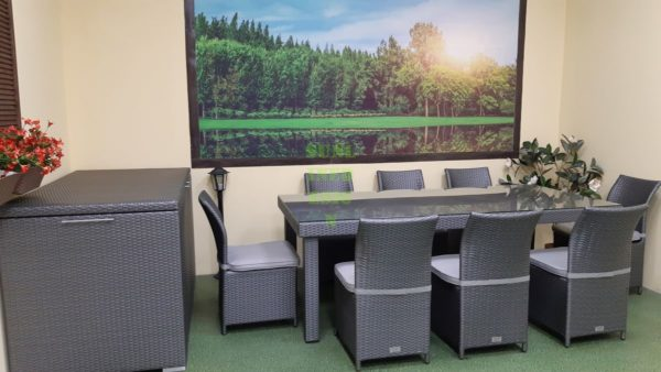 Louisiana grey dining Комплект мебели из искусственного ротанга