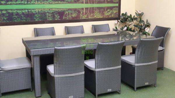 Плетеная мебель Louisiana grey dining