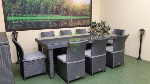 Louisiana grey dining Садовая плетеная мебель
