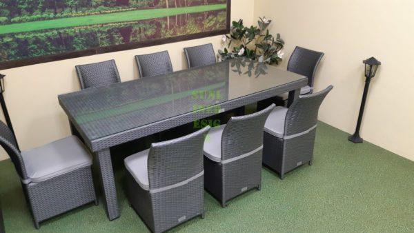 Louisiana grey dining Столовая мебель ротанг
