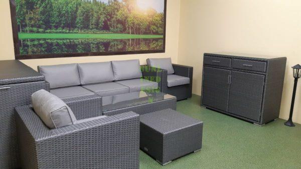 Louisiana grey set 3 Мебель из искусственного ротанга