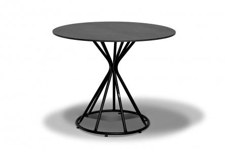 Стол для кафе Carlos D90 grey granite HPL