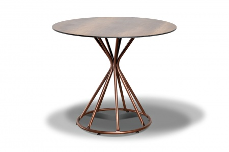 Стол для кафе Lyon D90 brown wood HPL