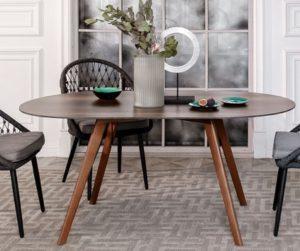 Стол обеденный Imperium 160 brown wood HPL
