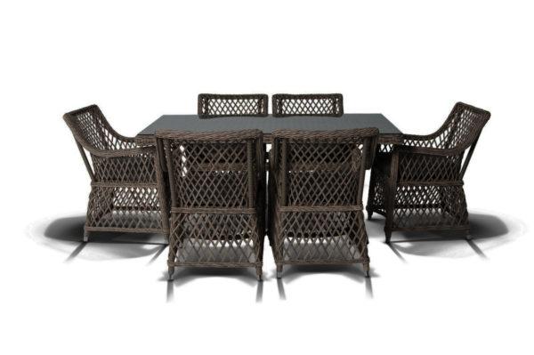 Latte brown Комплект плетеной мебели на террасу