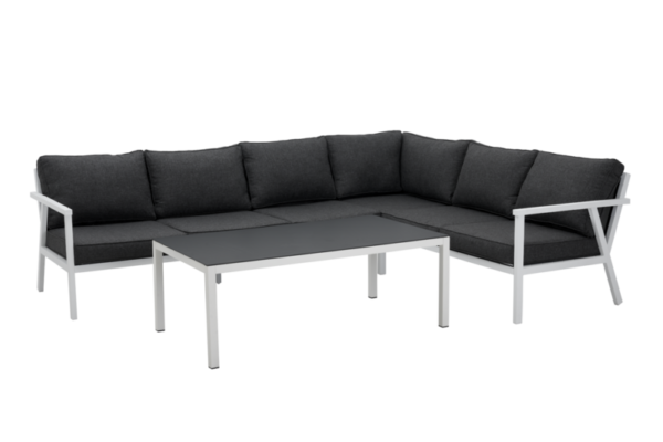 RANA white lounge правый Садовая мебель из алюминия