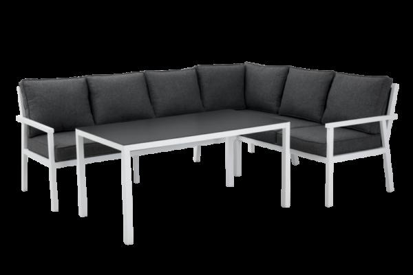 RANA white правый Садовая мебель из алюминия