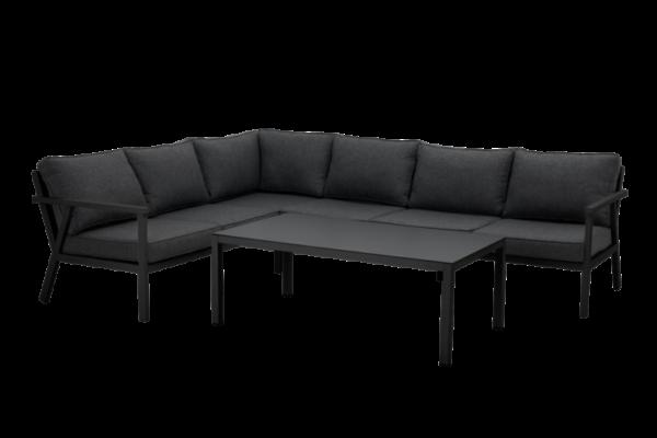 """Садовая мебель из алюминия """"RANA"""" black lounge левый /brafab"""