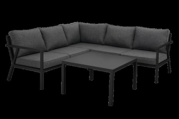 """Садовая мебель из алюминия """"RANA"""" lounge black 85 /brafab"""