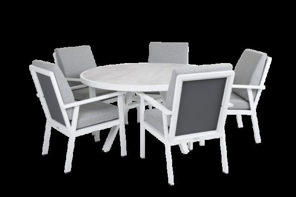 SAMVARO white Садовая мебель обеденная set 1