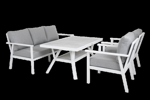 SAMVARO white Садовая мебель обеденная set 2