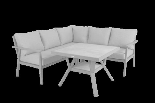 SAMVARO white Садовая мебель обеденная set 4