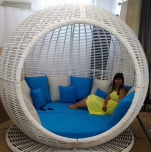 "Беседка из ротанга садовая ""Apple"" garden lounge white"