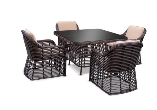 Bliss dining set 4 Плетеная мебель