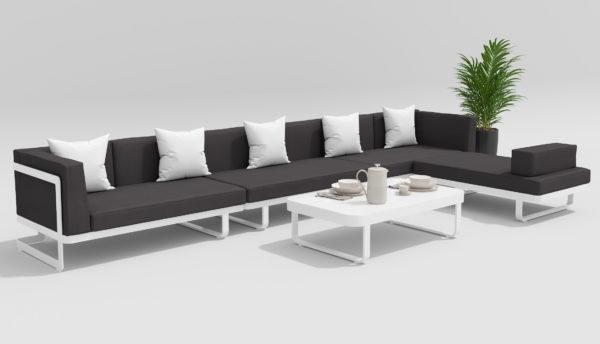 Фото-HACIENDA Садовая мебель для отдыха белый антрацит